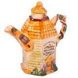 Чайник заварочный, керамика, 900мл, Сельский домик