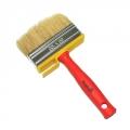 Кисть мини-макловица пластиковая ручка натуральная щетина 30*100