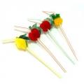 Трубочки для напитков Фрукты, цветные, 12шт (240х5мм)