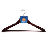 Набор вешалок для одежды 45см 3шт цвет Венге