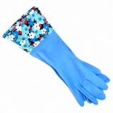 Перчатки хозяйственные удлиненные с манжетой синий 1 пара