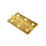 Петля 62,5х35х1мм золото