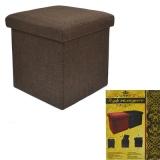 Пуфик-куб, складной Рогожа, орех, ткань 38х38х38см, до 80кг