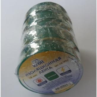 Изолента ПВХ 15мм*10м зеленая Kroll/200/5