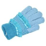 Перчатки молодежные с пайетками, состав 100% аркил, микс