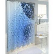 Шторка для ванной, ткань полиэстер с утяжелит, 180x180cм, фотопечать, Душ