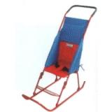Санки-коляска Тимка 1+ ремень безопасн., козырек