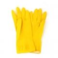Перчатки резиновые желтые L /12