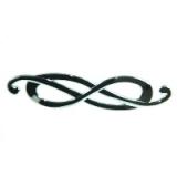 Ручка мебельная металл хром Бесконечность 12,5см