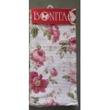 Полотенце с рисунком Розовые цветы 40*60см 100% хлопок