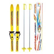 Лыжи детские Вираж-спорт с палками 100см пластик