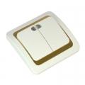 Выключатель Золотая Коллекция 10А 250В керамика