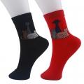 Носки молодежные с рисунком, 78% хлопок, 20% нейлон, 2% спандекс, р-р 22-24, 2 цвета