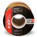 Уплотнитель Kim Tec, D-профиль, коричневый 100 м /6