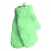 Варежки зеленые полиэстер ангора
