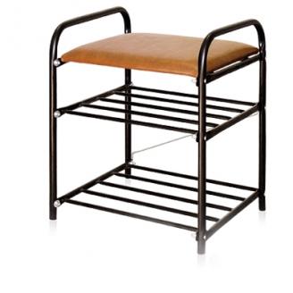 Банкетка 500х330х450мм с мягким сиденьем Ника черная