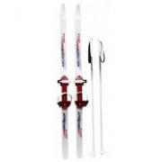 Лыжи подростковые Ski Rase с палками 140мм 105см