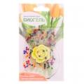 Гидрогель для домашних растений и декора Шарики с декоративным цветком, полимерный материал
