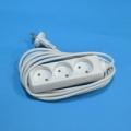 Удлинитель 3 гнезда евророзетка макс. мощность1500Вт 6A сеч. провода 0 75 кв.мм 2м