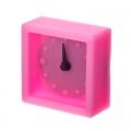 Будильник электронный силиконовый 5x5,5x2,5см 4 цвета