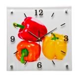 Часы настенные Перец/лайм/яблоко/вишня 30х30см микс