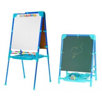 Мольберт для детей синий с изменяемой высотой М2