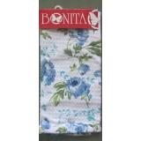 Полотенце с рисунком Голубые цветы 40*60см 100% хлопок