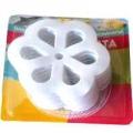 Набор декоров 6шт для ванной Снежинка, 12x12см, BR016-18