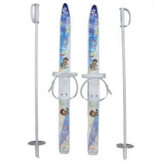 Лыжи детские Лыжики-пыжики с палками 75см