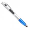 Ручка 3 в 1 (ручка, стилус, фонарик), пластик, 13,5см