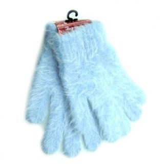 Перчатки голубые (полиэстер+ангора)