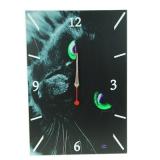 Часы-картина Кошка 38x26см дерево/пластик GC Design
