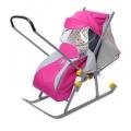 Санки-коляска Nika Ника детям 4 розовый