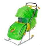 Санки-коляска Ника детям 5 Комета зеленый