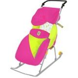Санки-коляска Тимка 2 Классик малиновый