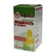 Жидкость от комаров для электрофумигатора на 30 ночей, без запаха(флакон) в инд. упаковке Nadzor /24