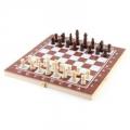 Набор 3 в 1 (шашки, шахматы, нарды) дерево, 29x29см, арт. 2115