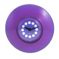 Часы для ванной, d8,4см, фиолетовые