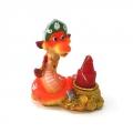 Сноу Бум подсвечник со свечой Змейка в кокошнике, 4диз. микс, 8см , DH19437-10