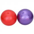 Мяч для фитнеса массажный, ПВХ, 75см, 4 цвета, в коробке