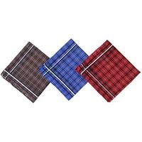 Набор носовых платков 3шт, мужские, хлопок, 28х28см, арт.GL-2904-2
