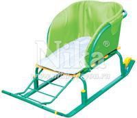 Сиденье Nika СС2-1 для ног без чехла на санки зеленый