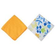 Набор салфеток из микрофибры 2шт, 30х30см, Цветы