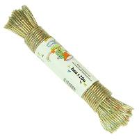 Шнур с разноцветной металлической жилой крученый 3мм х 20м