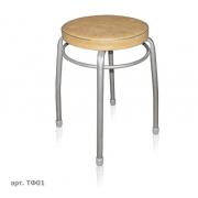 Табурет Фаворит 1 на 4 опорах серый (кругл. сиденья) Ника