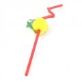Трубочки для напитков Фрукты-Фантазия, цветные, 10шт (275х0,5мм)