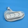 Удлинитель 3 гнезда, макс. мощность 2500Вт, 10A сеч. провода 1 кв.мм 2м