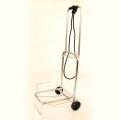 Тележка для сумок, хром, мал. колеса, грузоподъемность 25 кг
