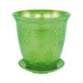 Горшок-Кашпо Гербера 1,5л с поддоном зелёный