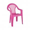 кресло пластик детское Плетенка розовый